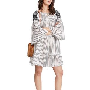 NWT FREE PEOPLE Lola Embroidered Mini Dress Small
